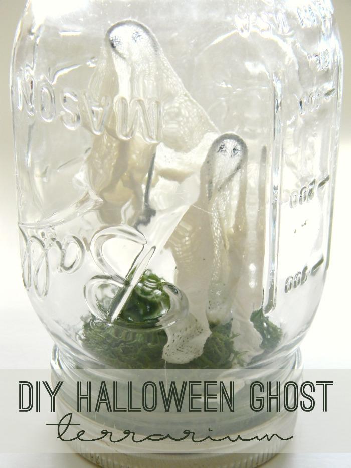 DIY Halloween Ghost Terrarium