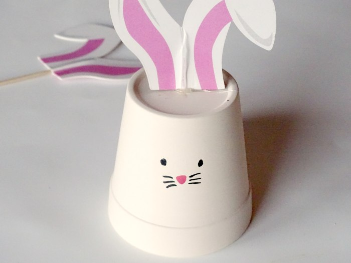DIY Easter Bunny Flower Pot Decoration