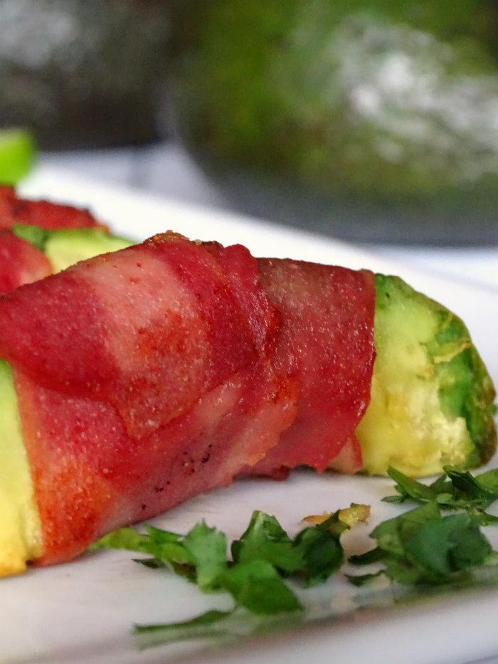 Chili Lime Bacon Avocado Bites
