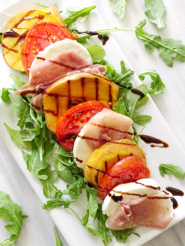 Grilled Peach Caprese Salad