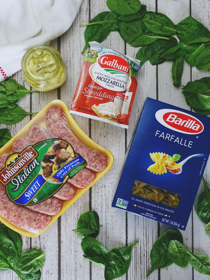 Easy Spinach and Artichoke Pasta Bake