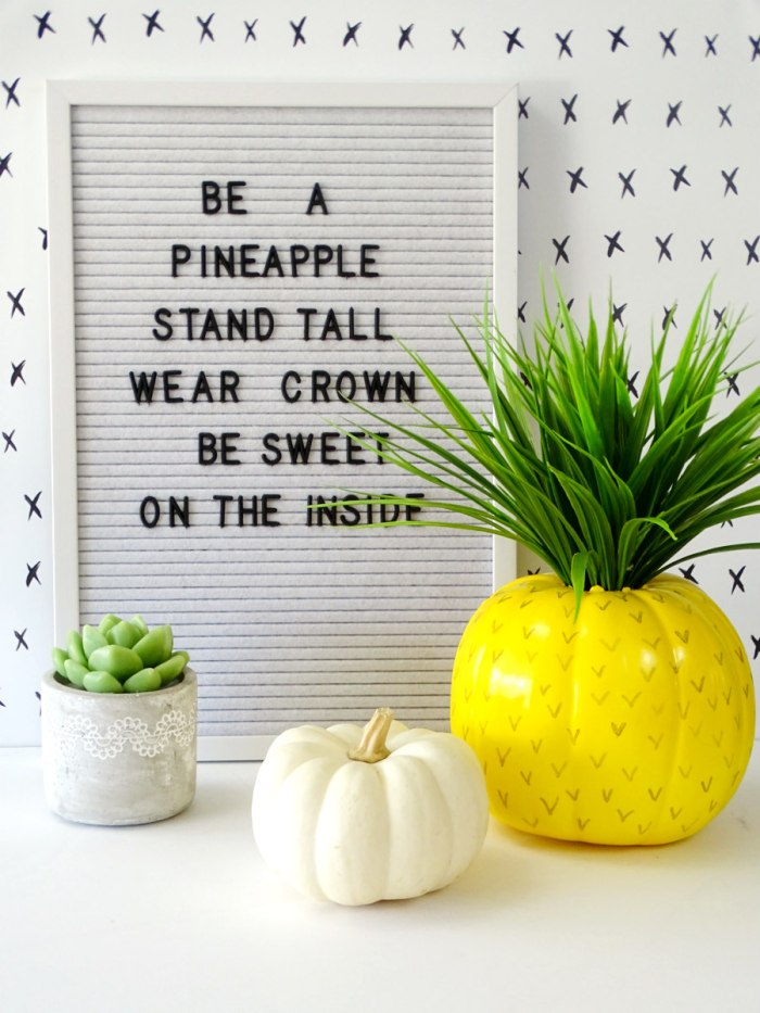diy pumpkin turned into a pineapple