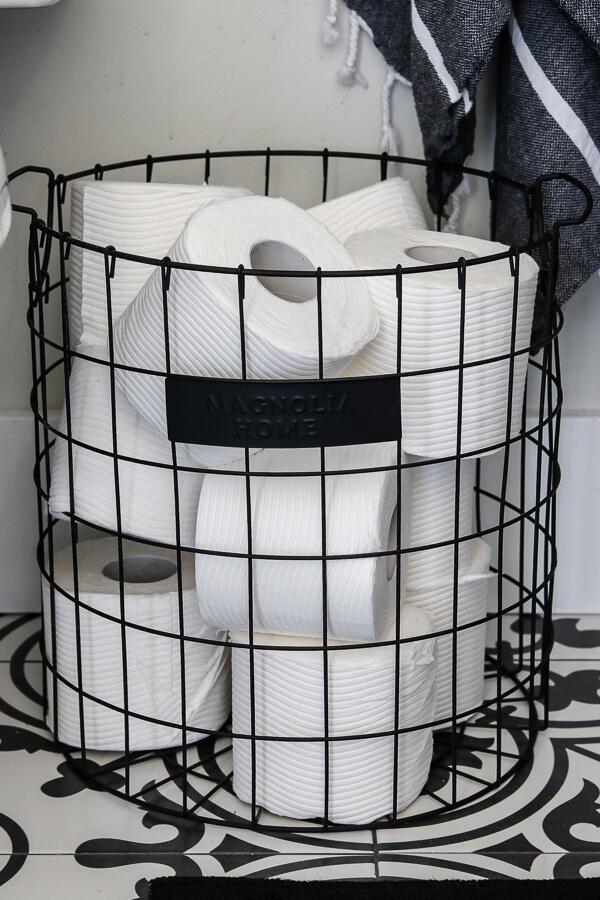magnolia basket for toilet paper