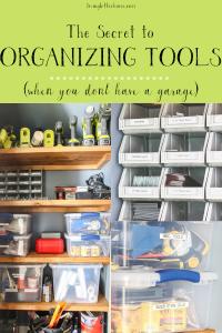 How to organize tools without a garage #toolcloset #toolorganization #livingletterhome #toolstorage