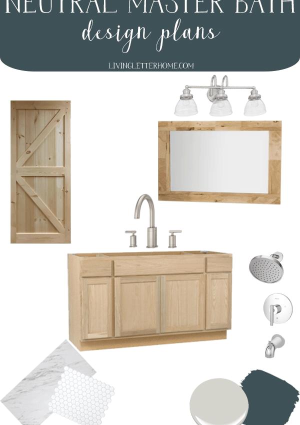 Master Bathroom Refresh Design Plans