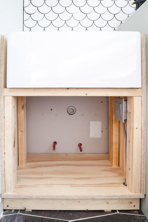 own farmhouse sink base cabinet
