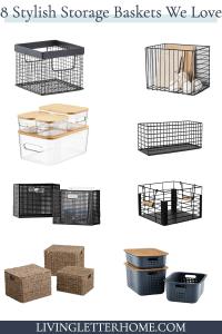 8 stylish decorative storage baskets on a budget!
