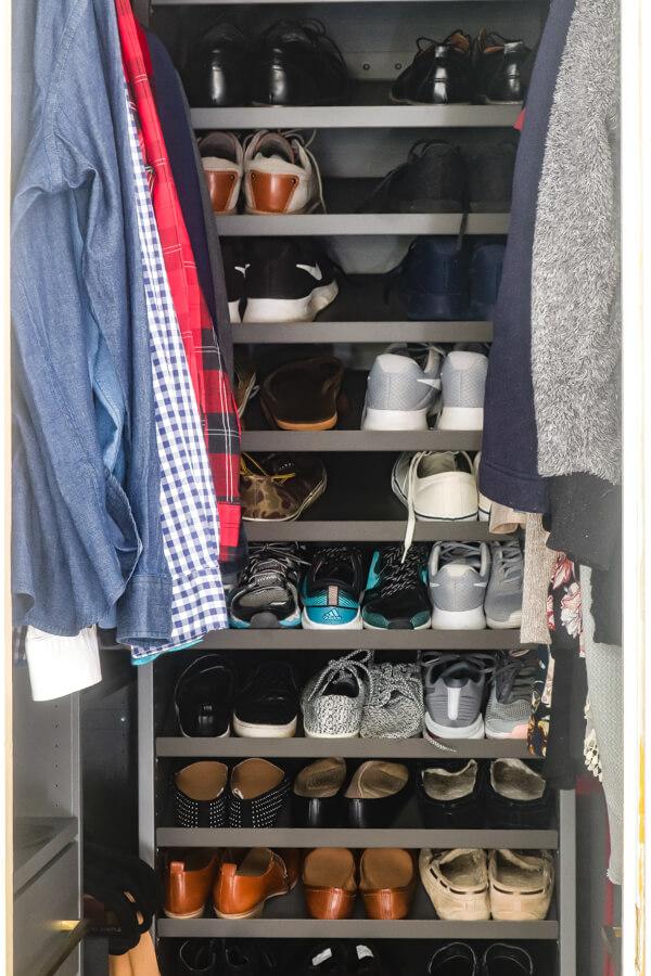 finished master closet with Ikea AURDAL