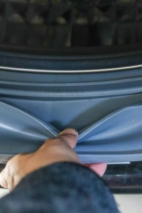 cleaned front lip of washing machine