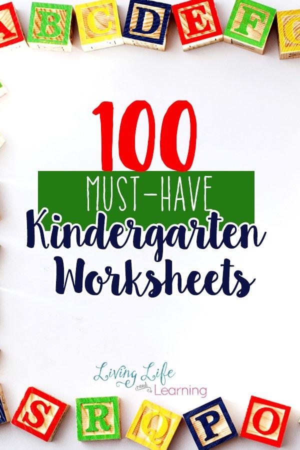 100 Must Have Kindergarten Worksheets And Printables