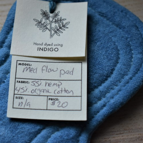 indigo dyed cloth moontime pad