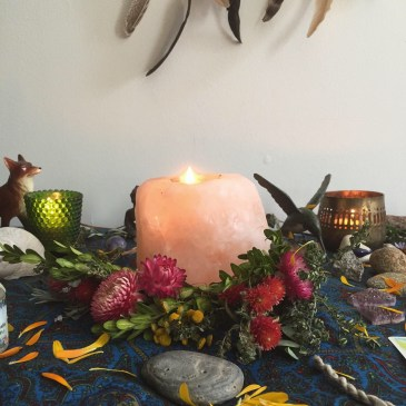 personal spiritual altar candle