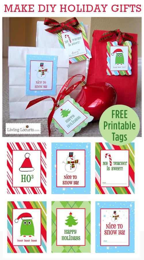 Free Printable Christmas Gift Tags Labels