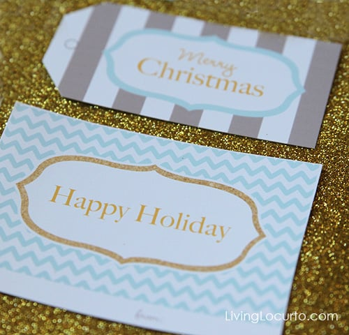 Free Printable Christmas Gift Tags by Amy Locurto | Living Locurto