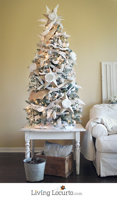 How To Paint A Christmas Tree White Christmas Tree Challenge