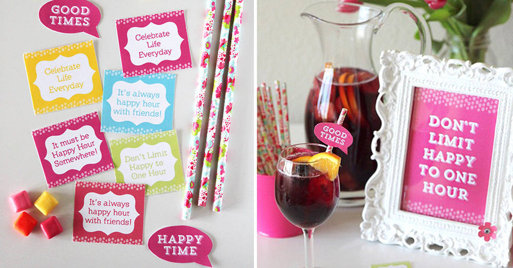 Happy Hour Party Ideas Free Printables For A Girls