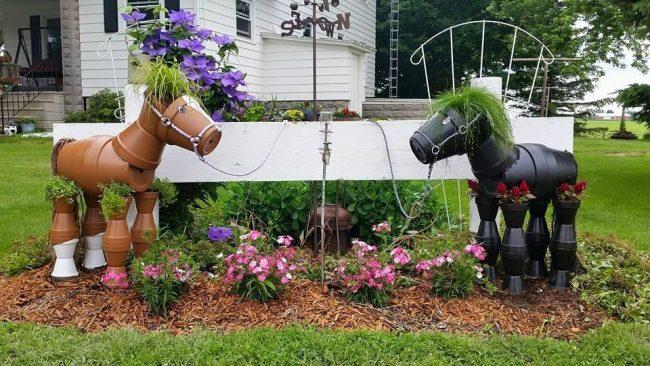 Diy Yard Art And Garden Ideas Homemade Outdoor Crafts