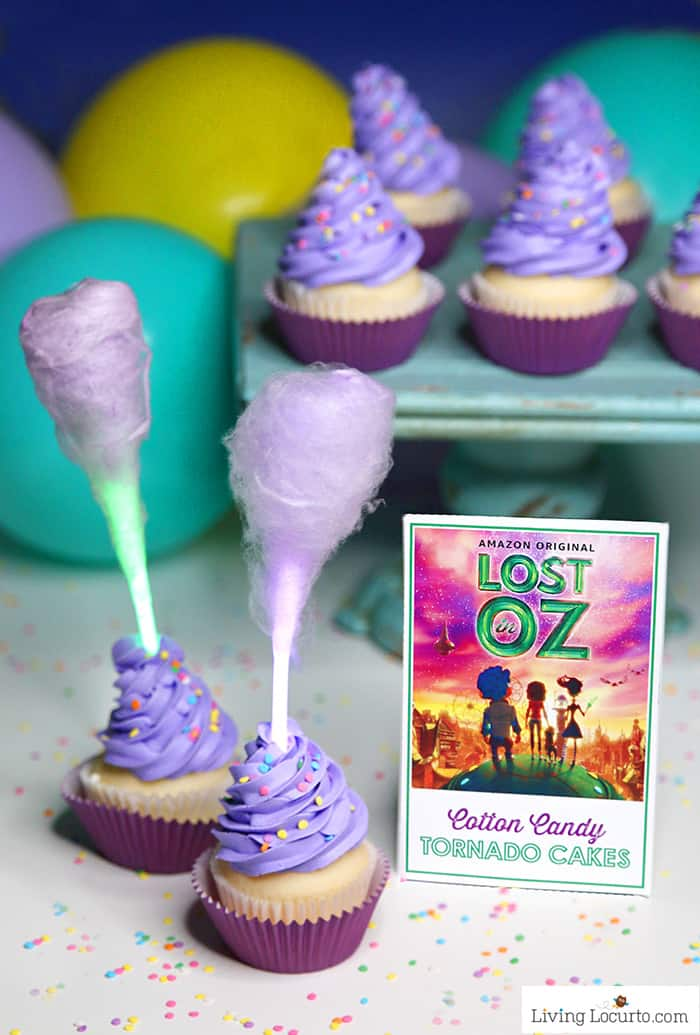 Glow In The Dark Cotton Candy Cupcakes Lost In Oz