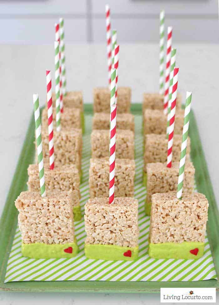 Grinch Rice Krispies Treats Christmas Party Recipe Living Locurto