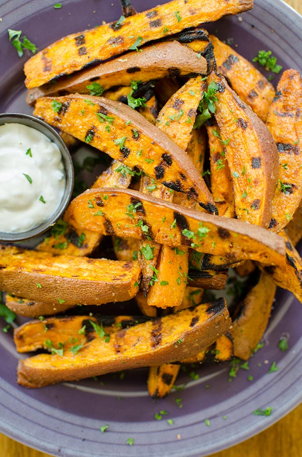 Grilled BBQ Sweet Potatoes