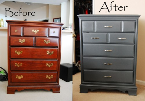 Dresser Re-do Before & After