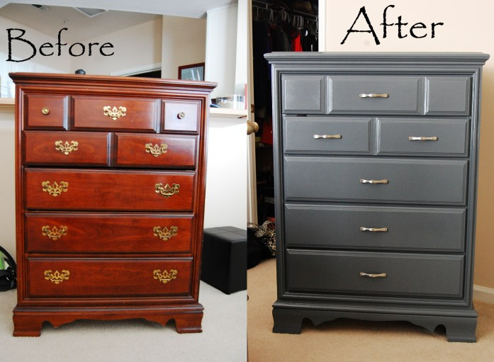Living on Saltwater - Furniture Painting - Before & After