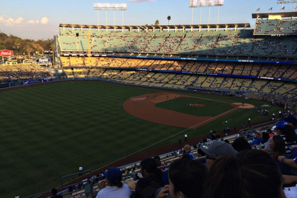 Living on Saltwater - Travels to California  - Dodgers Game