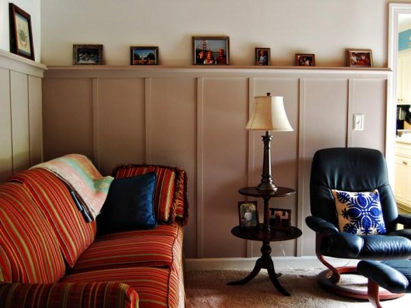 Living on Saltwater - Den Renovation - Board and Batten