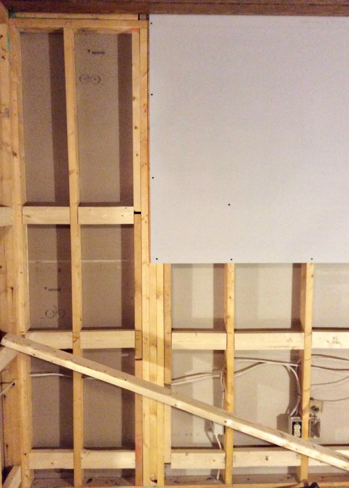 Living on Saltwater - Den Renovation - Board and Batten