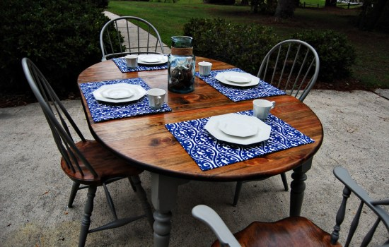 Living on Saltwater Kitchen  Table Redo