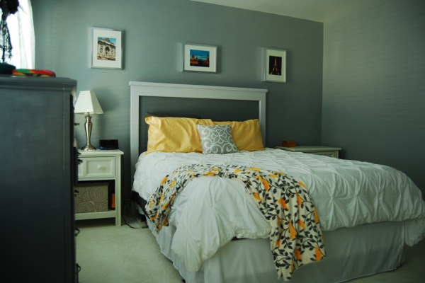 Living on Saltwater - Gray Bedroom