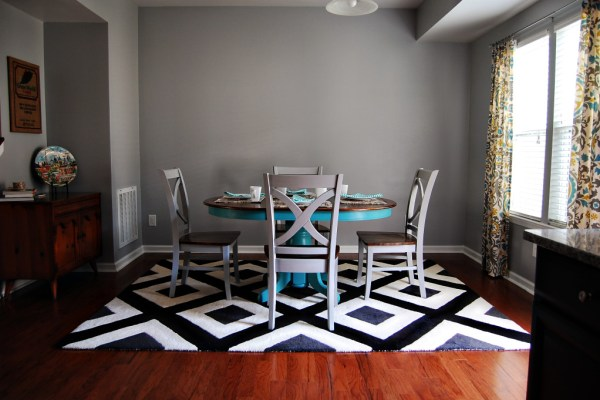 Living on Saltwater - Dining Room After