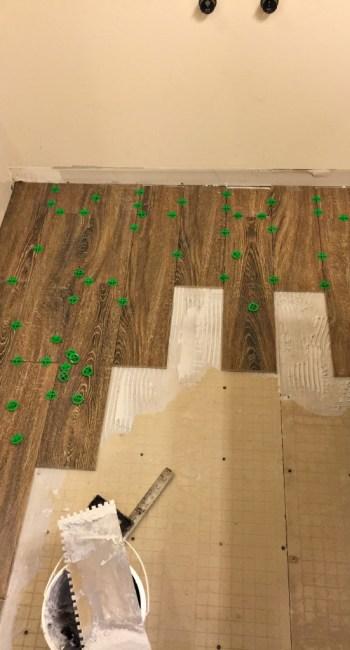Living on Saltwater - Guest Bathroom Tiling