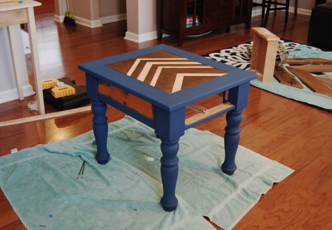 Living on Saltwater - Side Table - Napoleonic Blue - Annie Sloan