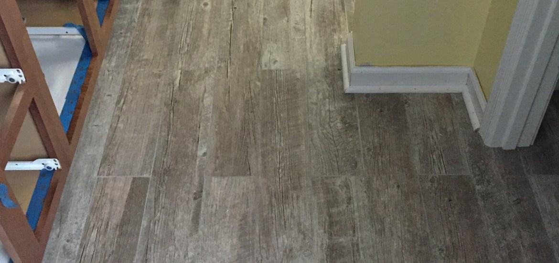 Living on Saltwater - Bathroom Tiling - Wood Grain Tile - Grout