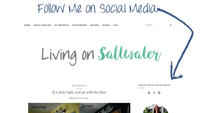 Living on Saltwater - Follow Me On Social Media