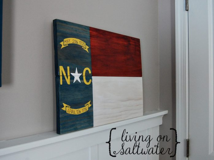Living on Saltwater - Etsy Shop NC Flag