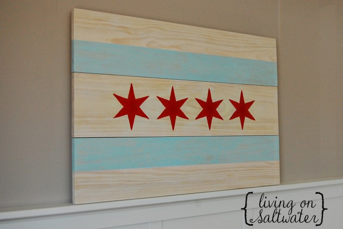 Living on Saltwater - Etsy Shop Chicago Flag