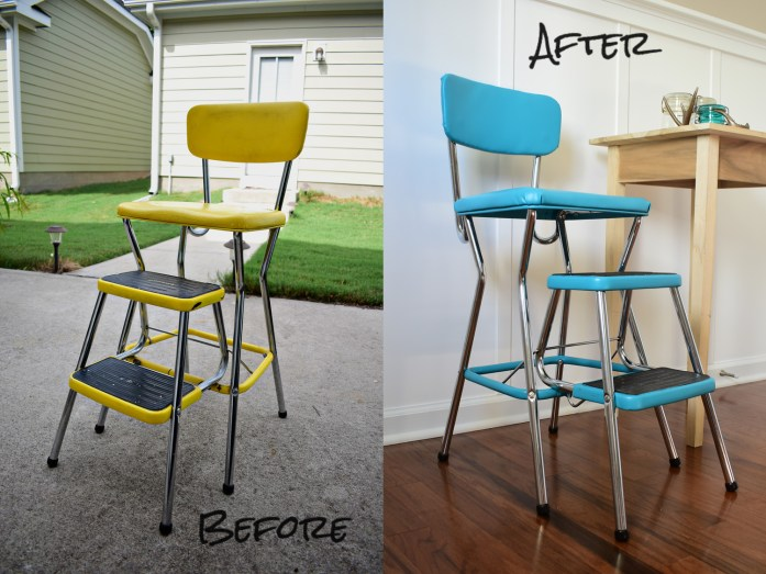 Living on Saltwater - Cosco Counter Stool Redo