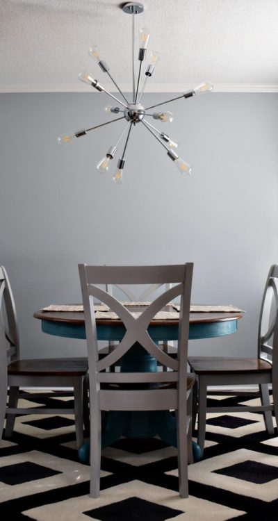 Living on Saltwater - Dining Room - Sherwin Williams - Silver Salvia