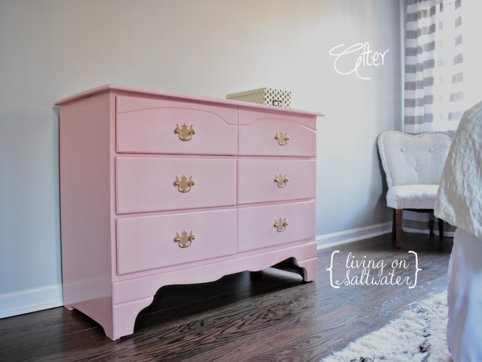 Living on Saltwater - Quartz Blush Sherwin Williams - Dresser Refinish