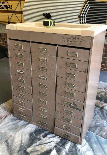 Living on Saltwater Hardware Cabinet Makeover File Cabinet Makeover