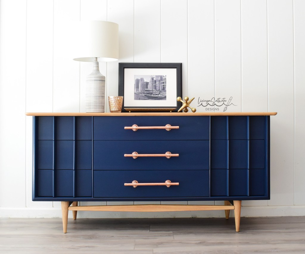 Living on Saltwater - Navy Dresser - Kent Coffey Dresser