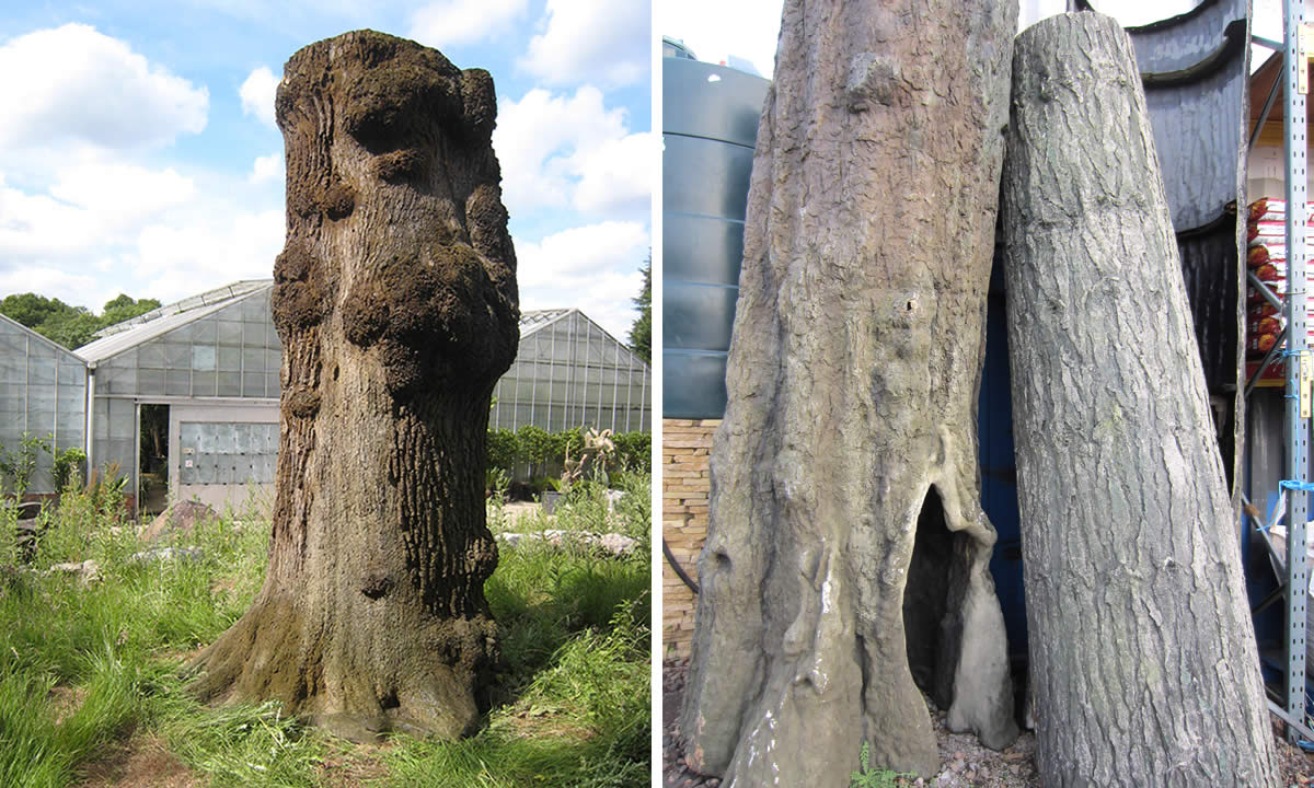 Artificial Tree Trunks 2 Living Props
