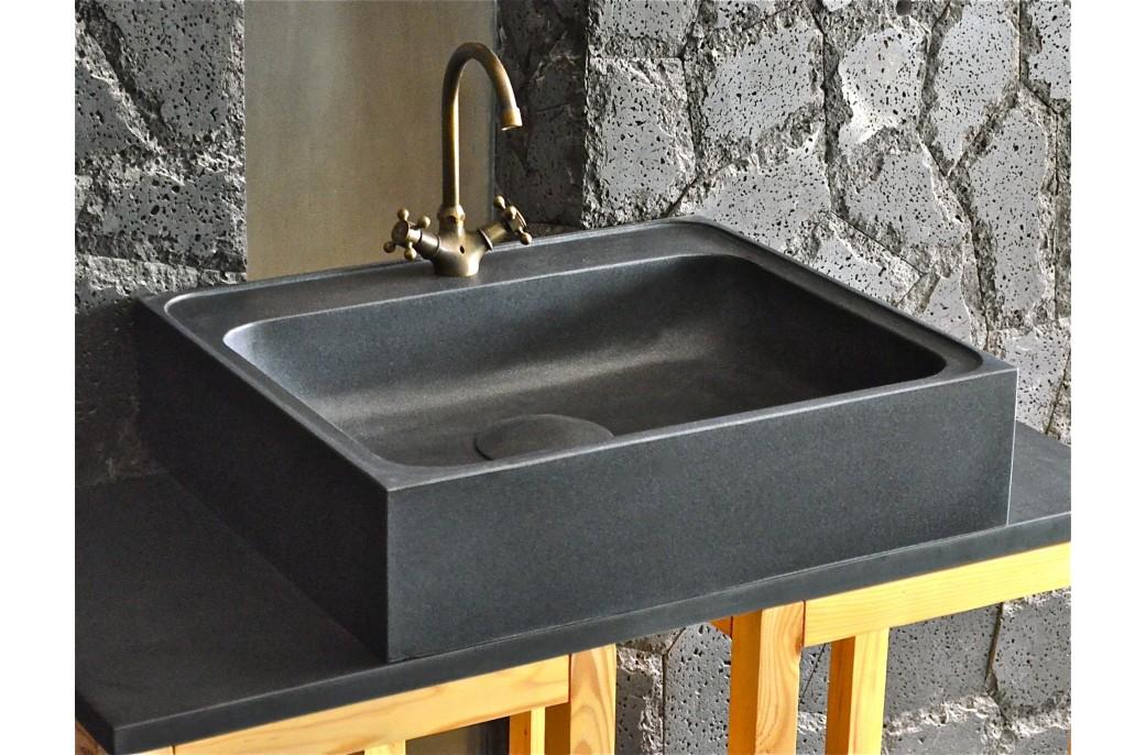 70 X 60cm Vier De Cuisine En Granit Noir Vritable