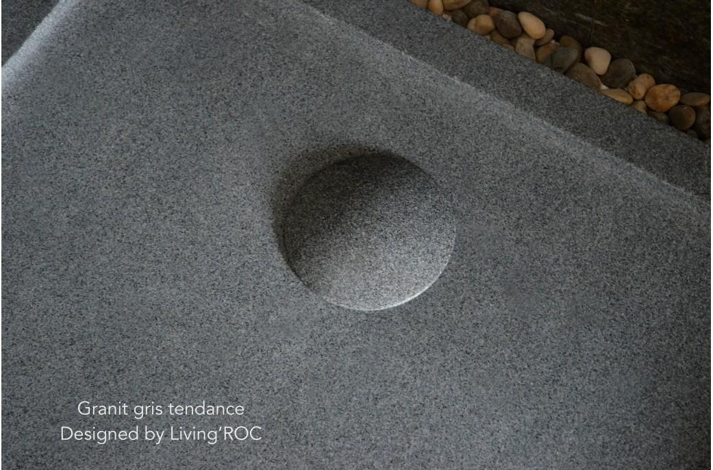 receveur de douche a l italienne granit 140x100 pierre veritable palm