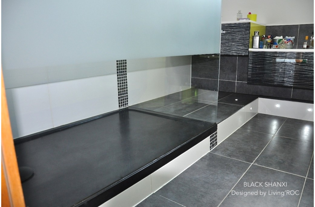 KIAORA SHADOW Receveur De Douche 120X100 Granit Noir