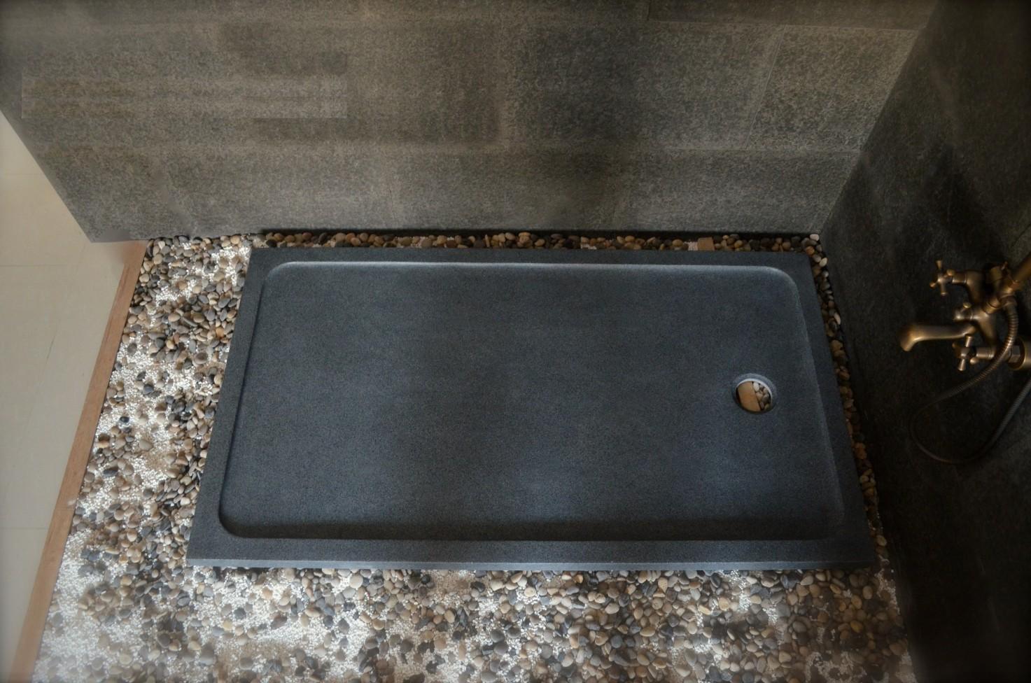 receveur de douche pierre a l italienne 120x90 dans la masse rubix