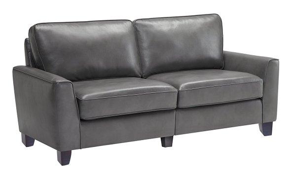 """Serta CR46761 RTA Astoria Coated Fabric Sofa, 73"""", Graphite Gray color"""