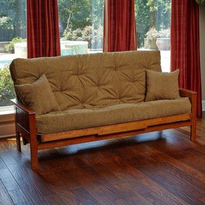Memory foam futon mattress beige upholstery fabric
